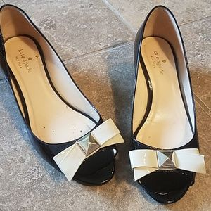 As is Kate Spade wedge bow pumps